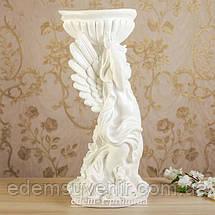 Подставка для цветов Ангел с чашей белый, фото 3