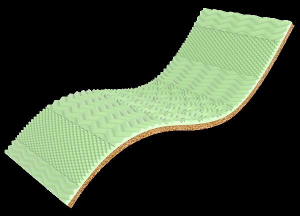Тонкиий матрас Take Go Tоппер Green Kokos 90x190 см (49332)