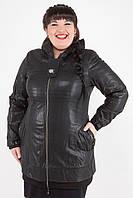Женская куртка кожзам больших размеров