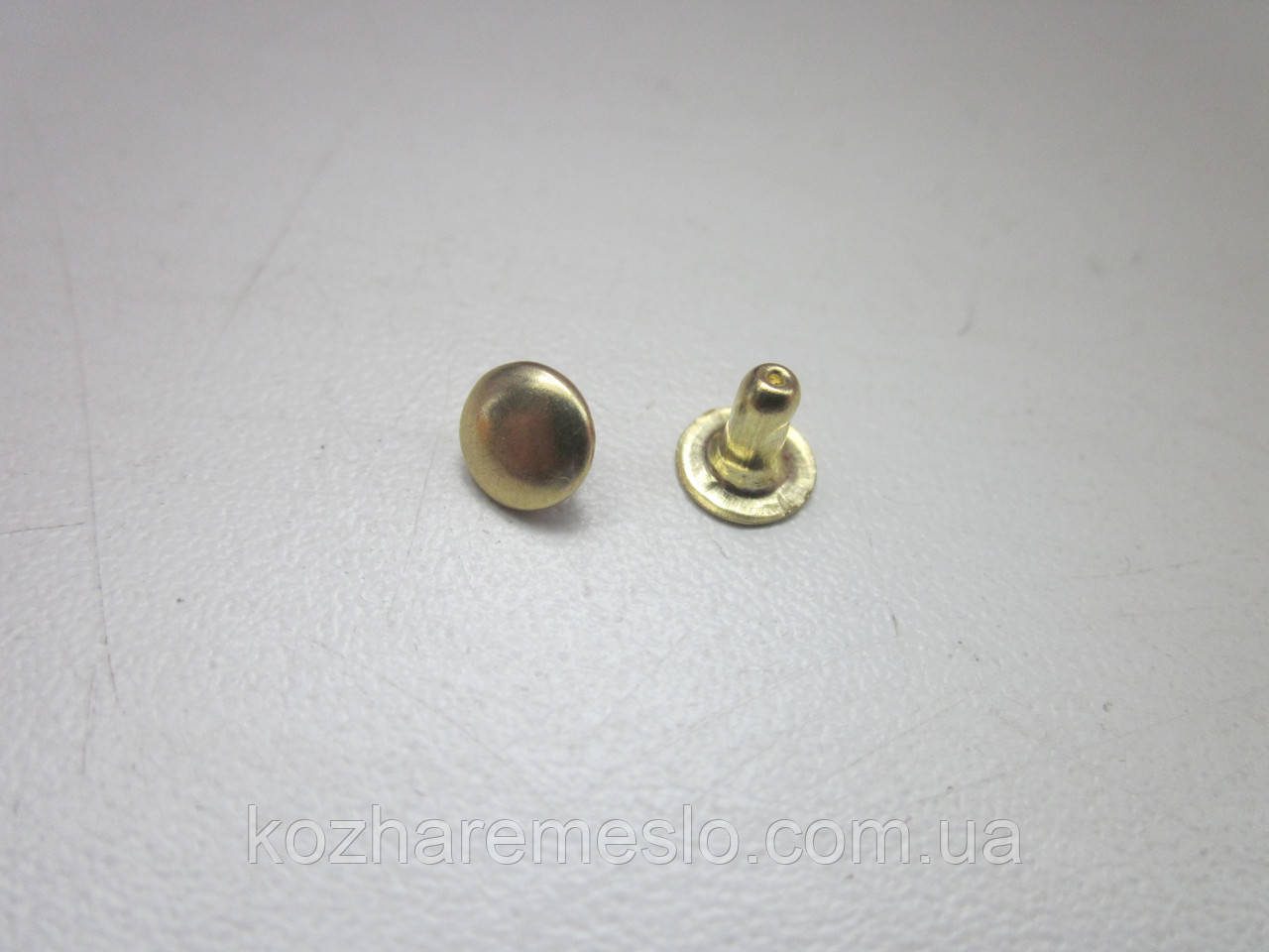 Хольнитен (заклёпка) односторонний 9 х 9 х 12 мм золото