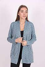 Ангоровый женская кардиган голубого цвета с карманами