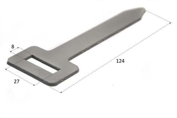 Ремень ПВХ крепления тента под прямоугольный люверс 27х8 мм.