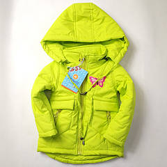 Куртка детская демисезонная для девочек салатовый 86р-110р 3803