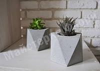 """Геометрическое кашпо из бетона """"Вирджиния"""" 11,5*13см, фото 1"""