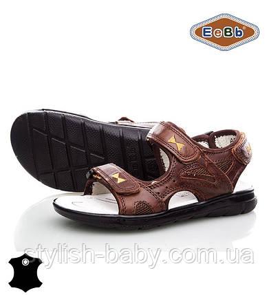 Детская летняя обувь оптом. Детские кожаные босоножки бренда EeBb для мальчиков (рр. с 32 по 37), фото 2