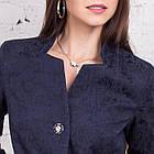 Женский нарядный кардиган с цветочной вышивкой - (рр-104), фото 7