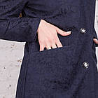 Женский нарядный кардиган с цветочной вышивкой - (рр-104), фото 8