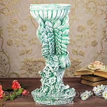 Подставка для цветов Ангел с чашей зеленый камень, фото 3