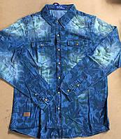Джинсовая рубашка для мальчиков S&D 8-16 лет