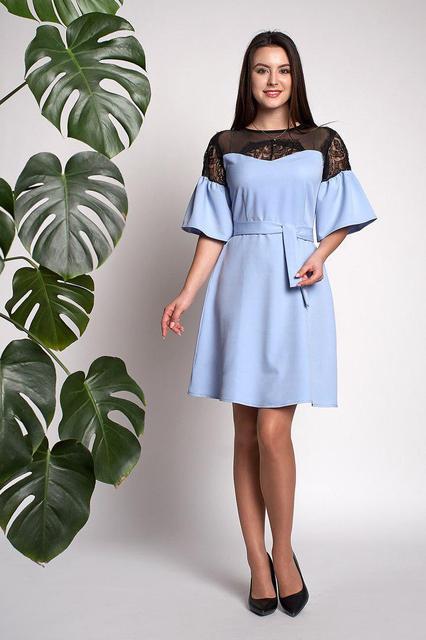 Платье Афина 0310_4 Голубое