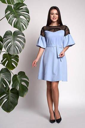 Платье Афина 0310_4 Голубое, фото 2