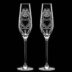 """Свадебные бокалы для молодых с Swarovski """"Ангелочки"""""""