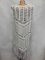 Накидка пляжная 9003 Ажур белая на размеры 46-50., фото 2