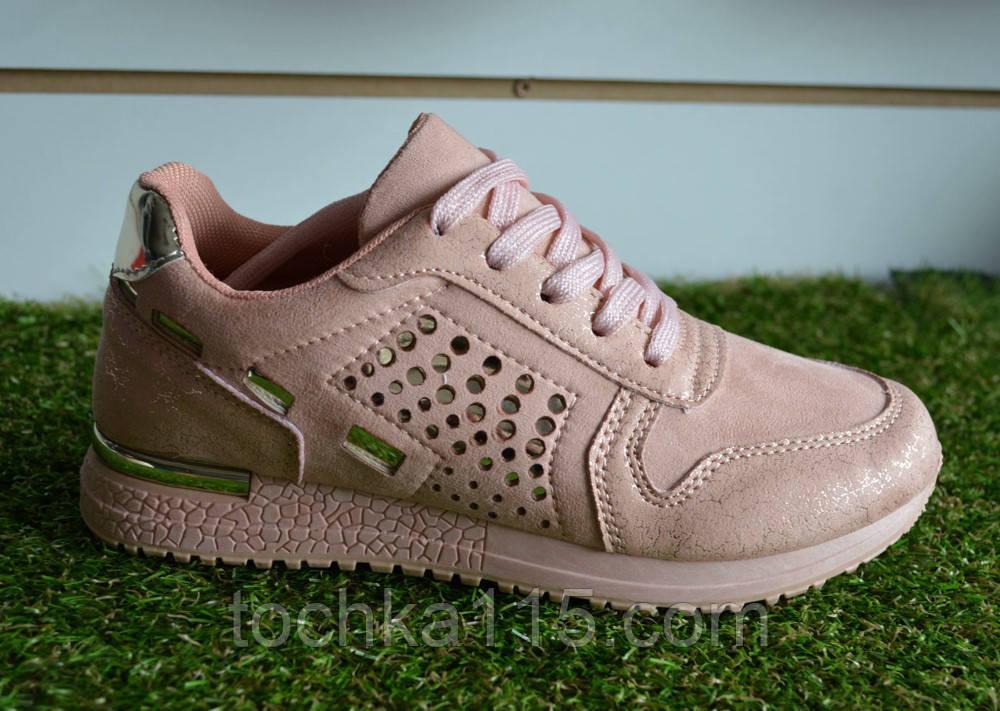 Женские кроссовки Nike найк пудровые розовые, копия, фото 1