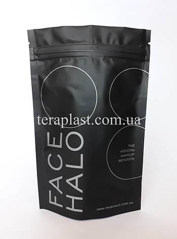 Пакет Дой-Пак черный 100г 130х200 с печатью в 1 цвет, фото 2