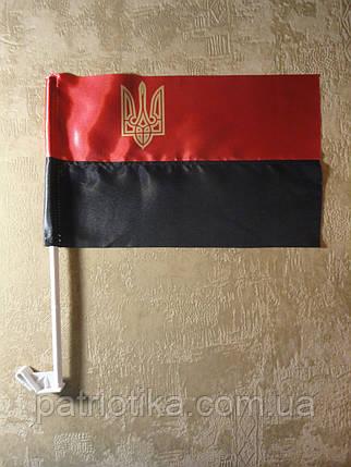 Прапор УПА атлас з тризубом 37х24см   Прапор УПА атлас з тризубом 37х24см, фото 2