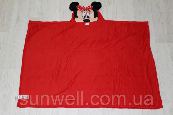 Пляжное полотенце с капюшоном Minnie Mouse, велсофт, фото 2