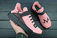 Кроссовки женские Adidas Human Race NMD TR Pink/Black / NKR-1503 (Реплика)