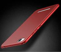 Чехлы для Xiaomi redmi 4A софт-тач пластик матовый, Красный