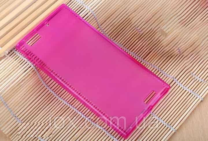 Розовый силиконовый чехол для Lenovo K900