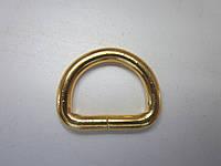 Полукольцо 5 х 25  х 18 мм золото