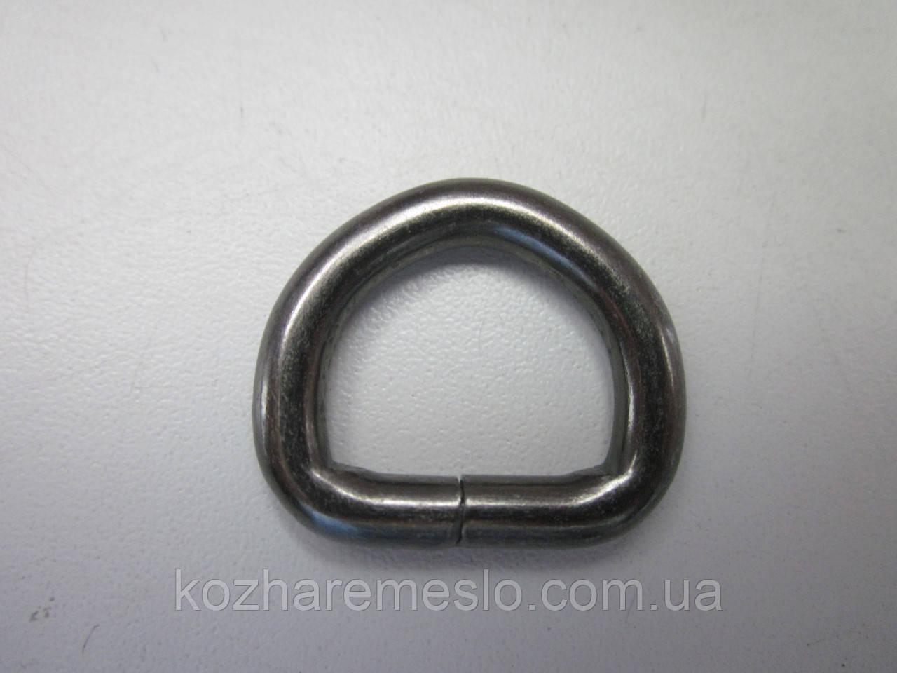 Полукольцо 5 х 25  х 18 мм тёмный никель