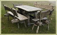 Столы для дачи, столы для пикника из дерева на заказ Киев, деревянная мебель для дачи, фото 1