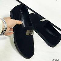 Туфли черные на низком ходу
