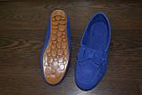 Насыщенно-синие мокасины  36р  полномерные, фото 3