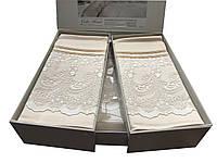 Комплект постільної білизна Gellin Home євро розміру Sali < (beige)