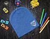 Демисезонная шапка для мальчика с эмблемой Польша синий