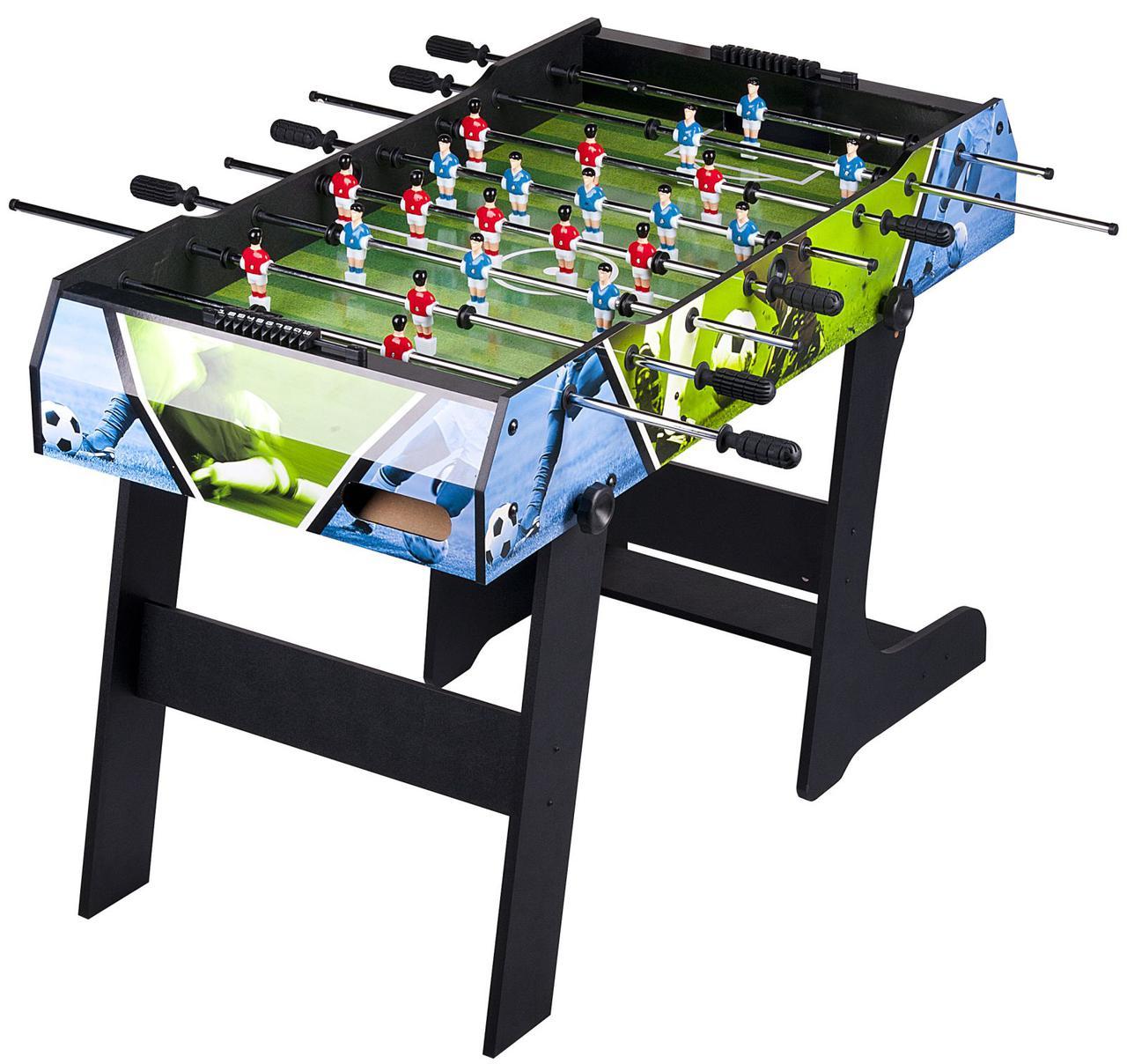 Настольный футбол Smart Football складной, игровой стол футбол - 121,5 x 67 x 82 см, кикер