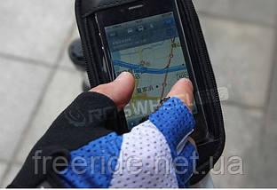 Велосумка на раму под смартфон 5.5'' (с синим боком), фото 3