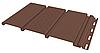 Панель софит FineBer без перфорации коричневая (Могано)