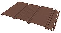 Панель софит FineBer без перфорации коричневая (Могано), фото 1