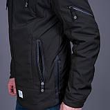 Чоловіча демісезонна куртка, зеленого кольору, фото 4