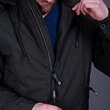 Чоловіча демісезонна куртка, зеленого кольору, фото 5
