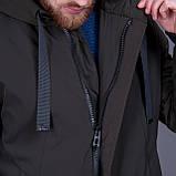 Чоловіча демісезонна куртка (подовжена),зеленого кольору, фото 5