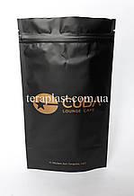 Пакет Дой-Пак черный 250г 140х240 с печатью в 1 цвет