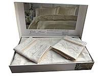 Жакардовий комплект постільної білизни тм Gellin Home євро розміру Nazlu