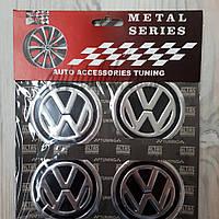 Наклейка эмблема на колпаки Volkswagen 60 мм (4 шт.)