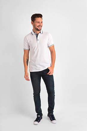 Белая футболка POLO 1801-1 разм 48, фото 2