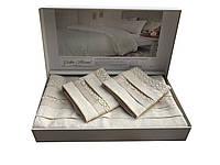 Жакардовий комплект постільної білизни тм Gellin Home євро розміру Selina