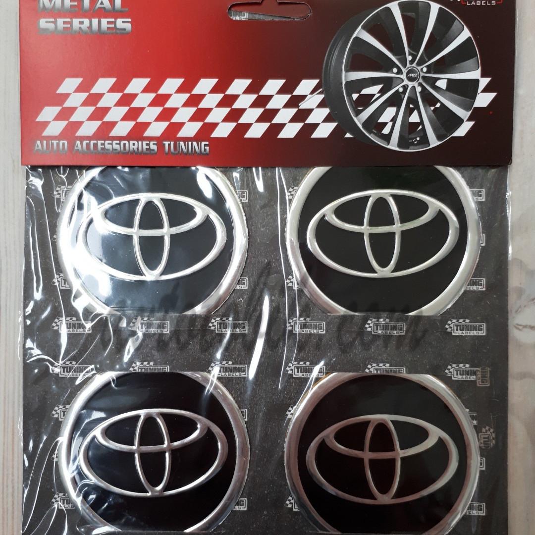 Наклейка эмблема на колпаки Toyota 60 мм (4 шт.)