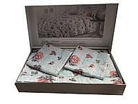 Жакардовий комплект постільної білизни тм Gellin Home Berce (mentol)