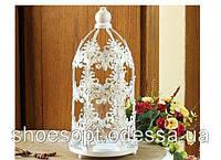 Декоративний свічник ажурний Прованс 26см