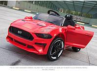 Детский электромобиль Mustang SX 3555, с Кожаным сиденьем, на EVA Резине красный, Дитячий електромобіль
