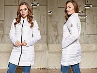 Удлиненная женская демисезонная куртка на молнии tez310185