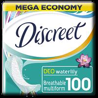 Discreet. Ежедневные гигиенические прокладки  Deo Water Lily,  100 шт (162274)