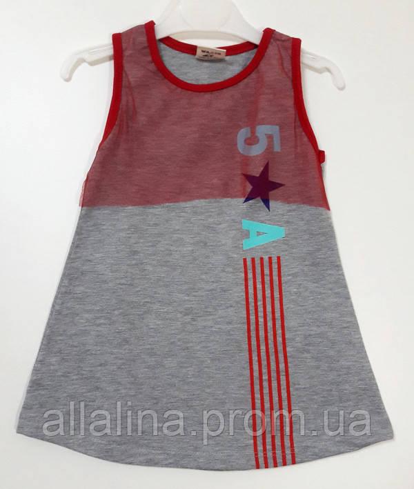 Платье (трикотаж) для девочки (1-5 лет)